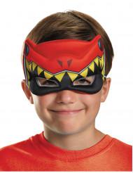 Rode Power Rangers™ Dinocharge halfmasker voor kinderen