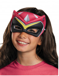 Roze Power Rangers™ Dinocharge masker voor kinderen