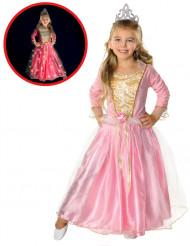 Lichtgevend roze prinses kostuum voor meisjes