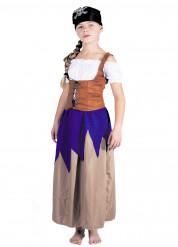 Piraten kostuum met lange rok voor meisjes