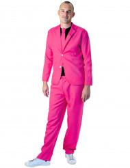 Fluo roze fashion kostuum voor volwassenen