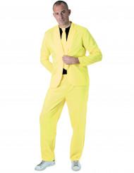 Fluo geel fashion kostuum voor volwassenen