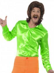 Groen satijnachtig overhemd voor mannen
