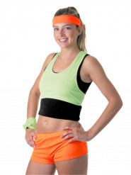Fluo oranje mini short voor vrouwen