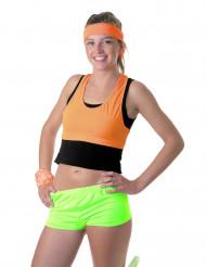 Fluo groene korte broek voor vrouwen