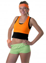Fluo oranje top voor vrouwen