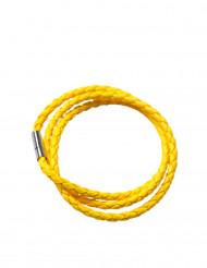 Fluo gele gevlochten armband voor volwassenen