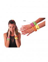 Fluo roze armband voor volwassenen