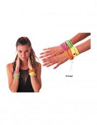 Fluo oranje fashion armband voor volwassenen