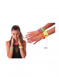 Fluo gele fashion armband voor volwassenen