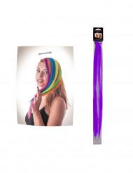 Paarse haarclip extension
