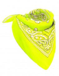 Fluo gele bandana voor volwassenen