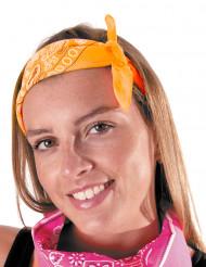 Fluo oranje bandana voor volwassenen