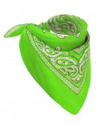 Fluo groene bandana voor volwassenen