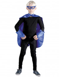 Blauwe superheld set voor kinderen
