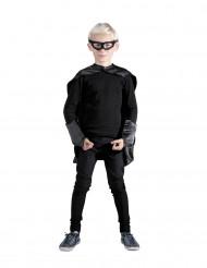 Zwarte superhelden set voor kinderen