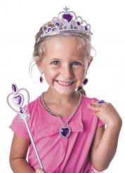 Paarse prinsessen accessoires set voor meisjes