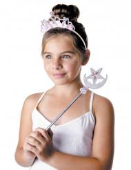 Sterren prinses tiara en toverstaf voor meisjes