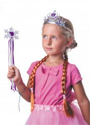 Paarse sneeuwprinses accessoire set voor meisjes