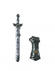 Ridder zwaard en handschoen