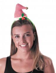 Ouderwetse kerstmuts op haarband