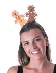 Peperkoekmannetje haarband voor volwassenen