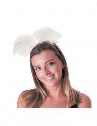 Witte engel haarband voor volwassenen