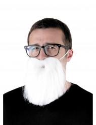 Witte hipster baard voor volwassenen