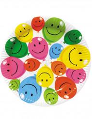 6 kartonnen smiley borden