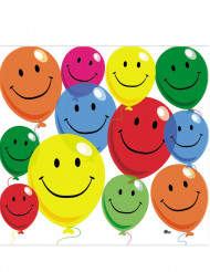 12 papieren smiley servetten