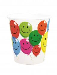 6 Smiley bekertjes