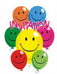 6 Smiley uitnodigingen