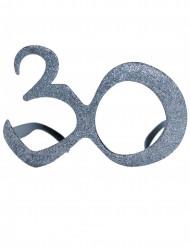 30 jaar bril met glitters