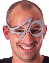 40 jaar glitter bril