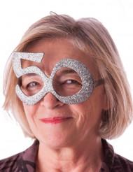 Glitter 50 jaar bril