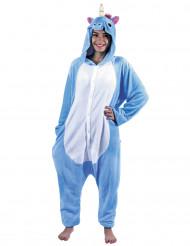Blauwe eenhoorn kostuum voor volwassenen