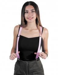 Snoep roze bretels voor volwassenen
