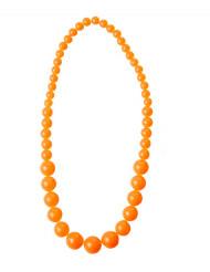 Grote oranje kralenketting voor volwassenen