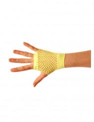 Korte fluo gele handschoenen voor volwassenen