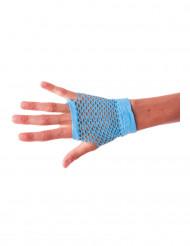 Korte blauwe visnet handschoenen voor volwassenen