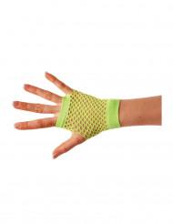 Korte groene visnet handschoenen voor volwassenen