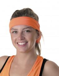 Fluo oranje jaren 80 hoofdband voor volwassenen