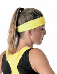 Fluo gele jaren 80 hoofdband voor volwassenen
