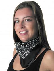 Zwarte bandana voor volwassenen