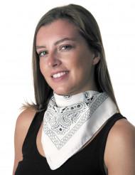 Witte bandana voor volwassenen