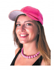 Roze sportpet met lovertjes voor volwassenen