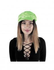 Fluo groene disco pet voor volwassenen