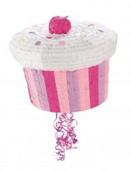 Roze cupcake pinata