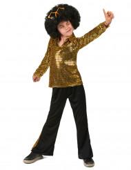 Goudkleurig lovertjes disco kostuum voor jongens