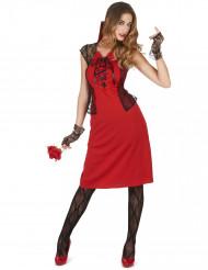 Sexy rood vampier kostuum voor vrouwen